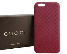 AUTHENTIC GUCCI iPhone6 / 6s GG Pattern Microguccissima iPhone Case Dark Red