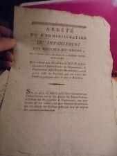 1793 Arreté du Département Bouches du Rhône Procés Verbal Elections Municipales