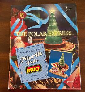 32502 BRIO Wooden Train Polar Express North Pole! Light Up Tree! Thomas! NEW