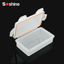 Soshine Hard Plastic Battery Storage Box Waterproof for 18650 Cells Protect EAC