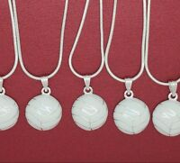 White Netball Necklace I Love for all the team end of season gift qty 8 10 12 14