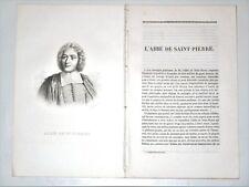 Charles-Irénée CASTEL 1658-1743 Saint-Pierre-Eglise Manche Abbé de Saint-Pierre