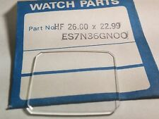 Seiko crystal replacement, ES7N36GN00, 26.00 x 22.99