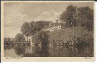 Ansichtskarte Bad Pyrmont - Blick auf das Schloß mit Brücke - gelaufen SEHR ALT