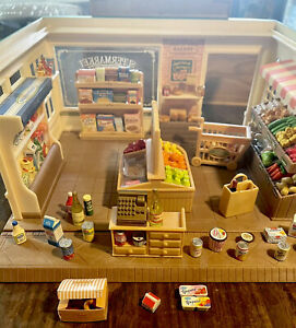 Calico Critters Sylvanian Families Supermarket Grocery Store + Accessories Food