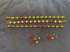 Lot Of 12 Joan Rivers Ladybug Enamel (3) Bracelets & 9 Charms Two Sizes