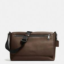 NWT COACH SULLIVAN messenger in sport calf leather 71642 MAHOGANY