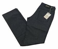 "Brioni Livigno Jeans Handmade in Italy BNWT Luxury Dark Blue Denim Size 34"" £410"