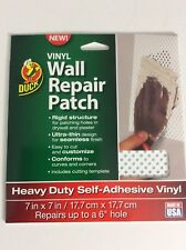 Duck Brand Vinyl Wall Repair Patch White 7 in x 7 in New