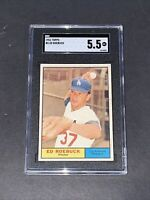 1961 Topps #6 Ed Roebuck SGC 5.5 Newly Graded & Labelled