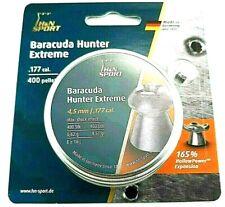 H&N SPORT BARACUDA HUNTER EXTREME .177 Hp 9.57 Hot Fast Air Gun PELLETS (400 ct)