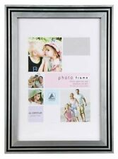 "Art Deco Style Black Silver Photo Picture Frame 8""x10"""