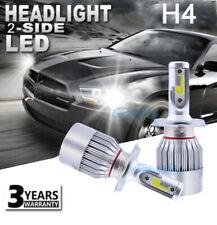 H4 9003 HB2 LED Headlight Bulbs Conversion Kit High Low Beam 6000K 12000LM White