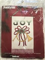 Christmas Cross Stitch JOY Banner New Vintage Janlynn  #50-131