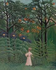 Woman Walking in an Exotic Forest by Henri Rousseau 60cm x 48cm Art Paper Print