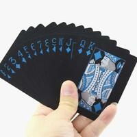 Waterproof Magic Black Plastic PVC Poker Playing Cards Table Game UK