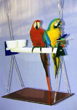 MACAW SWING GYM w/cups toy tray ceiling guards - easy to clean - fun for birds