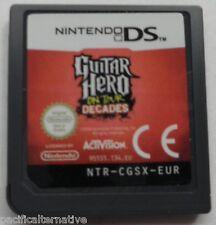 jeu GUITAR HERO ON TOUR DECADES sur nintendo DS game francais en loose guitare