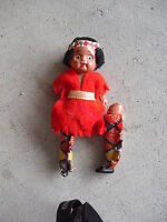 "Vintage Celluloid Ethnic Girl Doll 4"" Tall"