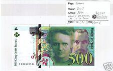 FRANCE 500 FRANCS PIERRE ET MARIE CURIE 1994 NEUF N° 2 !!!!!!