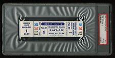 PSA 8 WINNIPEG JETS at EDMONTON OILERS 1976 Unused Ticket WHA Play-off Game 1