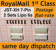 2x JST-XH connector plug (Male, Female, Crimps) for Lipo 6s Balance Extension