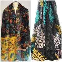 Floral Print Scarf  Ladies Winter Large Shawl Pashmina Stole Blanket Wrap Animal