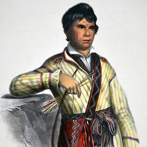 MISTIPPEE  - ORIGINAL MCKENNEY & HALL HAND-COLORED 1855 LITHO