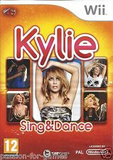 KYLIE SING AND DANCE for Nintendo Wii - with box & manual - PAL
