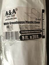White Greenhouse  Plastic, Film, Cover 55% Shade 4 Year 6 Mil - 8' Ft X 28' Ft