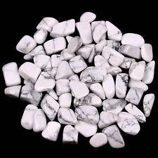 "50G Bulk Howlite Tumbled Stones Small 1/4"" Natural Crystals"