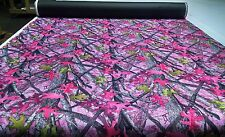 "500D COATED WATERPROOF CORDURA HUNTING 60"" CAMO FABRIC TRUE TIMBER SASSY B PINK"