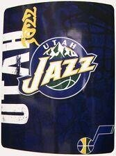 """Blanket Fleece Throw NBA Utah Jazz NEW 50""""x60"""" with protective sleeve"""