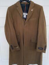 """Hammond & Co. Camel Moleskin Epsom Overcoat 44"""" Chest BNWT"""