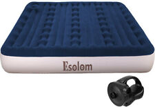 Queen Size Double Blow Up Air Bed Inflatable Mattress Built in Electric Pump Us