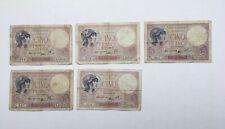 Lot De 5 Billets 5 Francs 1939