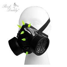 Cyber Gasmaske mit PVC-Nieten grün *gas*maske*gelb*steam punk*gothic*schwarz*