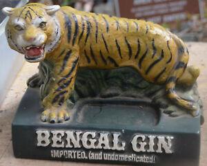 Vintage Back Bar Liquor Promotional Display Bengal Gin Tiger Advertising