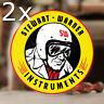 """2x pieces Stewart Warner instruments sticker decal old school hot rod 3.25"""""""