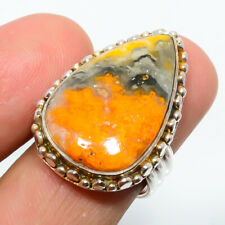 Bumble Bee Jasper- Indonesia 925 Sterling Silver Jewelry Ring s.7 W3174