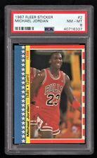 1987-88 Fleer Sticker #2 Michael Jordan PSA 8 NM-MT