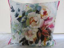 Designers Guild  floral 100% Linen Fabric Aubriet Fuchsia Cushion Cover D3