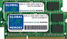 Memoria RAM per prodotti informatici con velocità bus PC3-14900 (DDR3-1866) da 2 moduli da 4GB