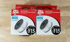 Lot of 2 Dirt Devil HEPA F 15 3SS0150001 Quick Vac Vacuum Cleaner Filter