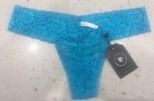 NEW - Panty Postman Lace Thong - Blue - RRP $14.99