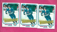 3 X 1981-82 TOPPS # 39 NORDIQUES PETER STASTNY ROOKIE NRMT-MT CARD (INV# D7271 )