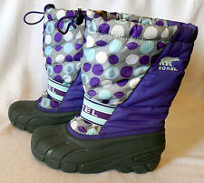 SOREL Ladies WINTER SNOW BOOT size 4 Insulated Removeable Wool Liners L373