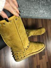 Stiefel Boots Fell Gelb Nieten Gold Gr.37/38