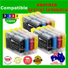12x Ink Cartridges LC960 LC970 LC37 LC57 For Brother Brother DCP 330 350 560CN