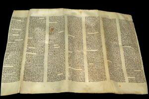 "LARGE RARE TORAH BIBLE SCROLL MANUSCRIPT 150 YRS OLD EUROPE  ""The Tabernacle"""
